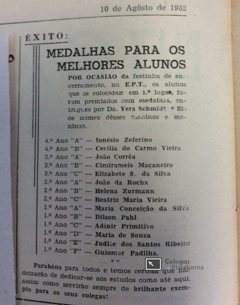 1962 ago Encerramento Prim Semestre