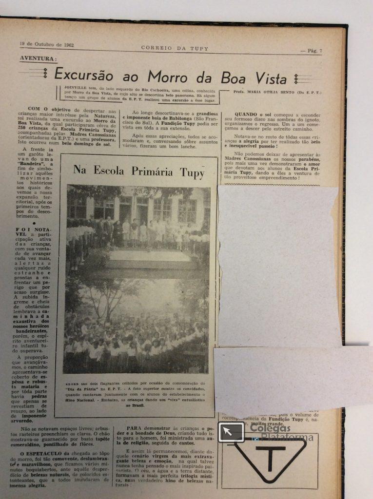 1962 out Excursão ao Morro do Boa Vista