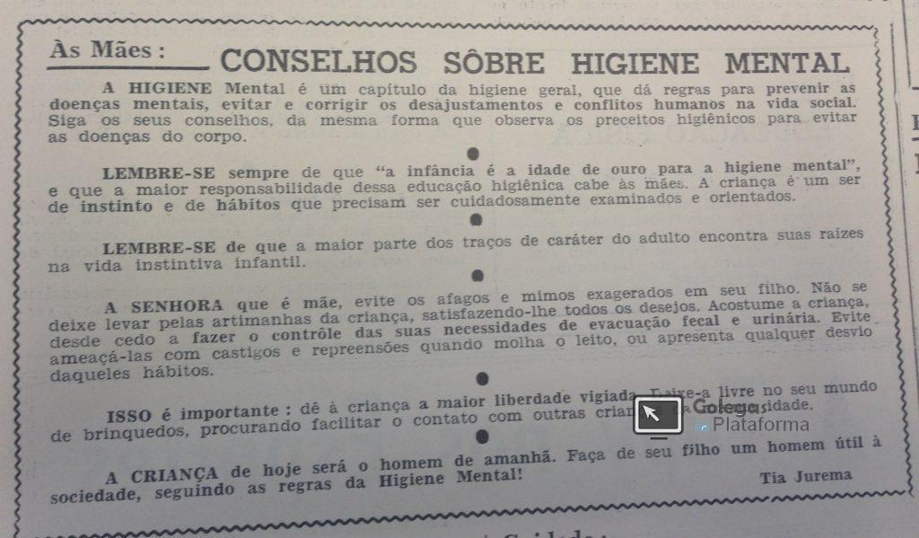 1963 Conselho para as mães