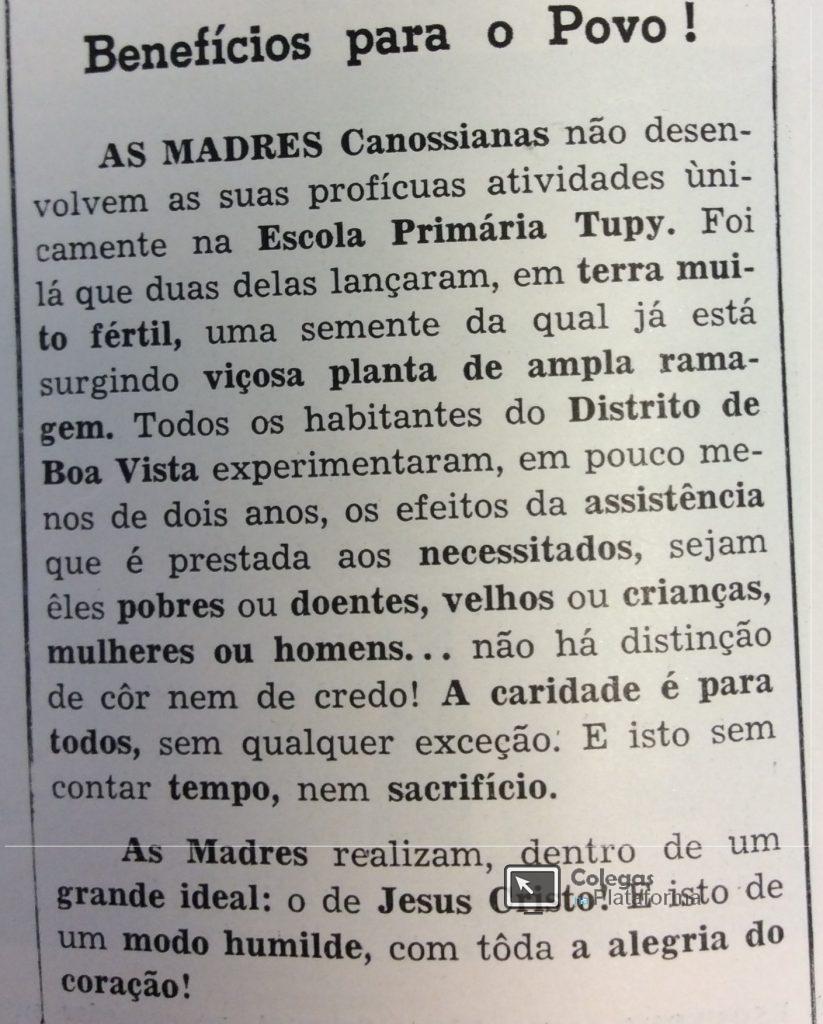 1963 Madres canossianas após 2 anos