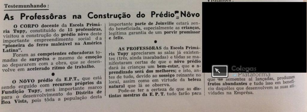 1963 abr Construção da 2ª parte EPT
