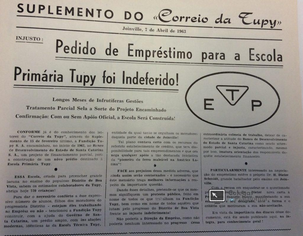 1963 abril Pedido Empréstimo para Construção