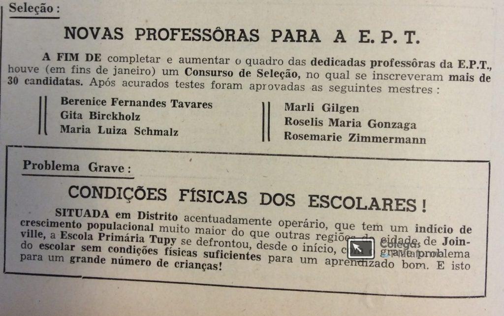 1963 fev Novas professoras II