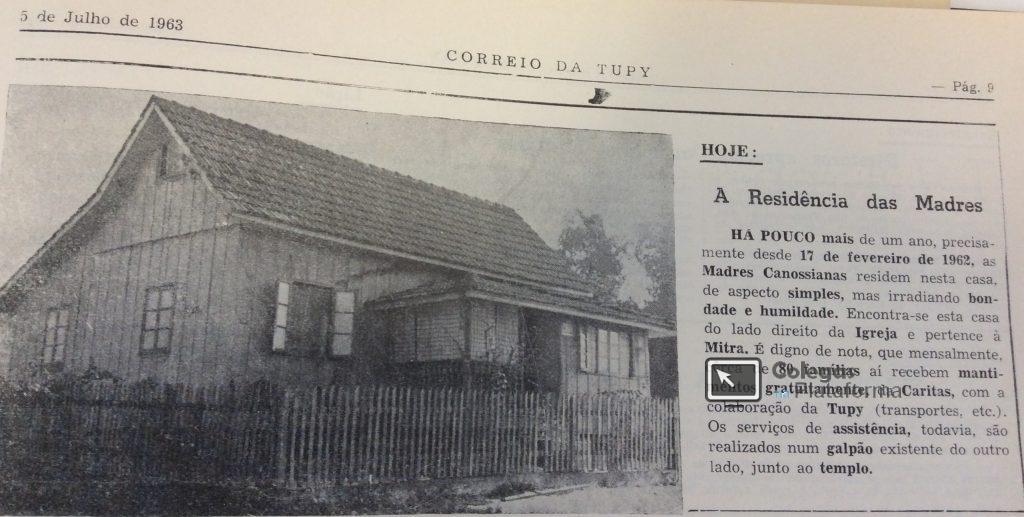 1963 jul Irmãs Canossianas casa