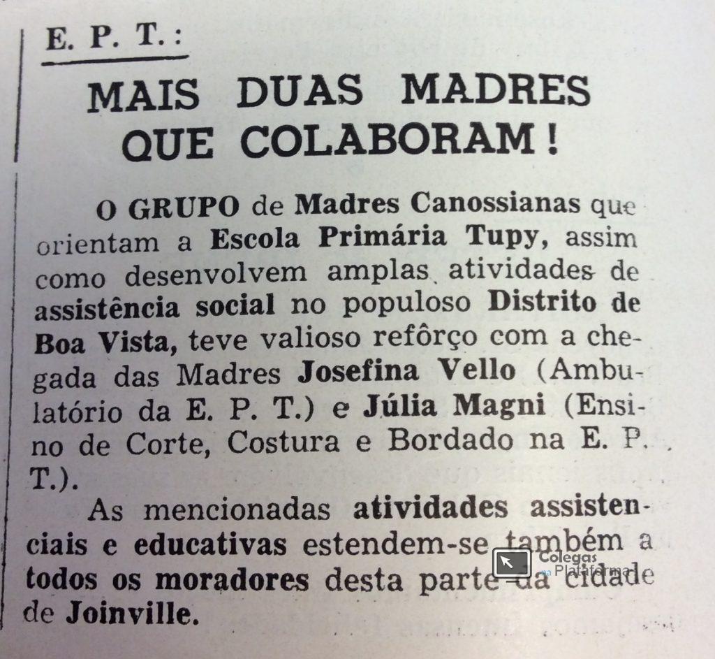 1963 maio - Mais duas madres