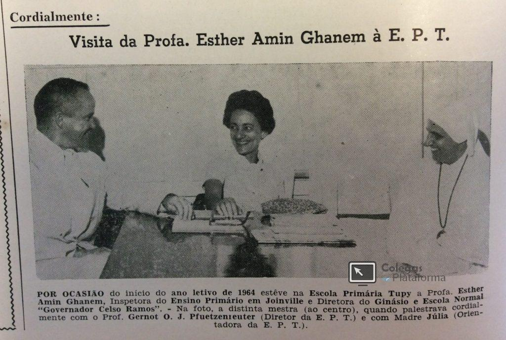 1964 Visita Esther Amin início 64