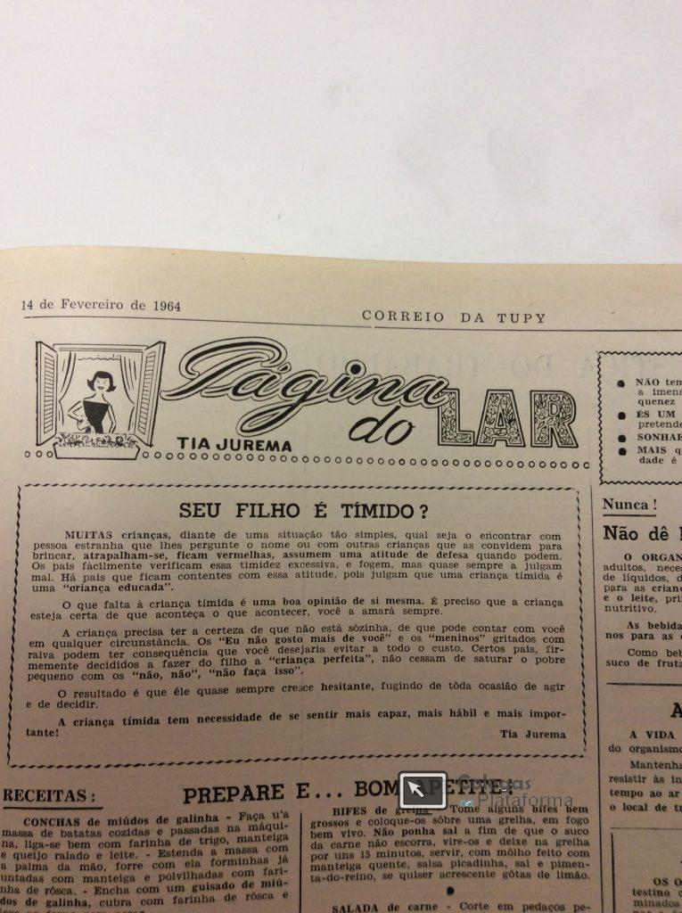 1964 fev Artigo Jornal Timidez