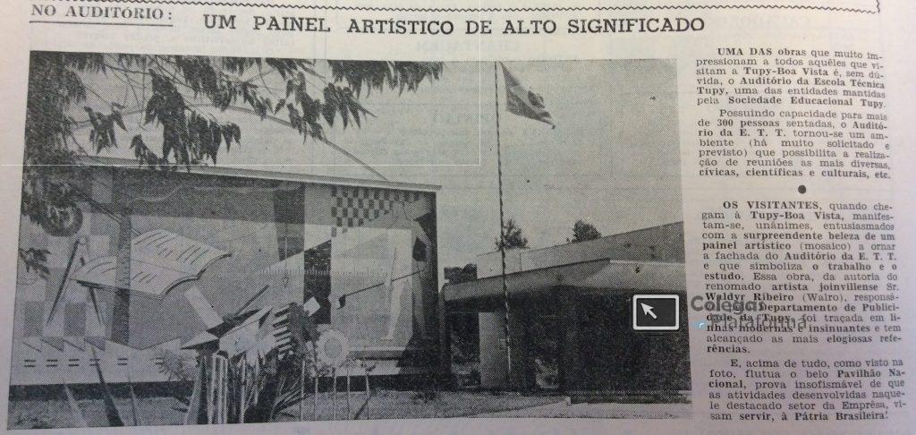 1964 fev Auditório ETT e Painel