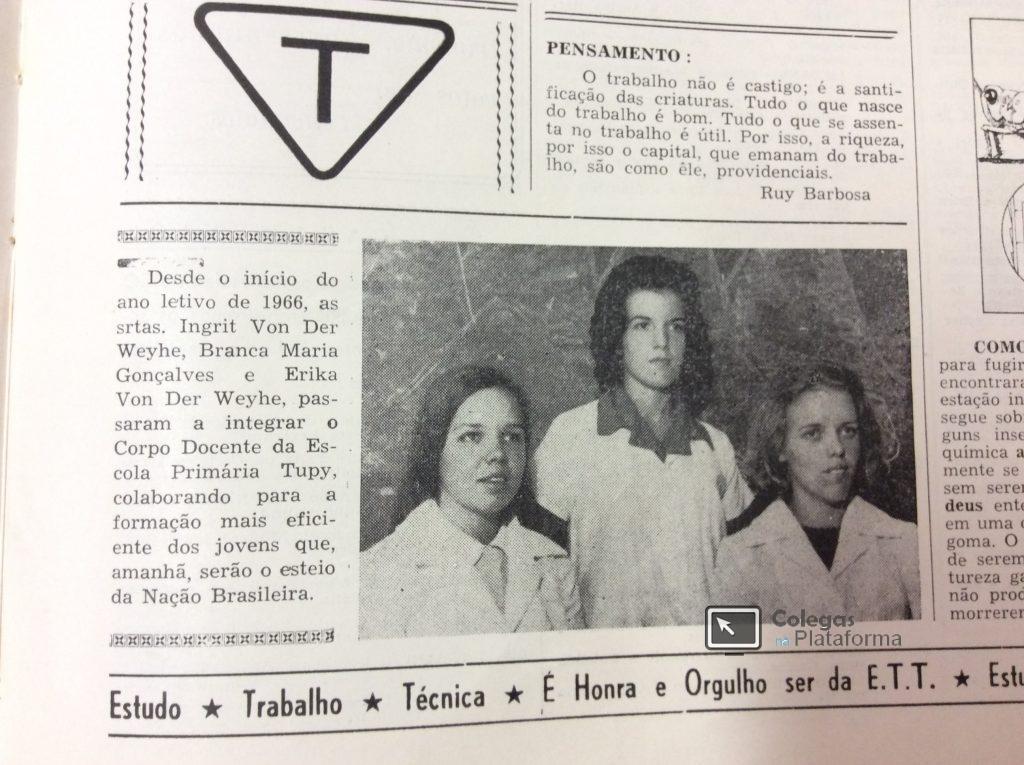 1966 início Novas Professoras