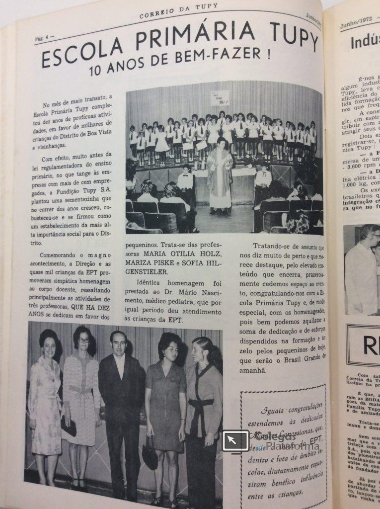 1972 jun Comemoração 10 anos EPT
