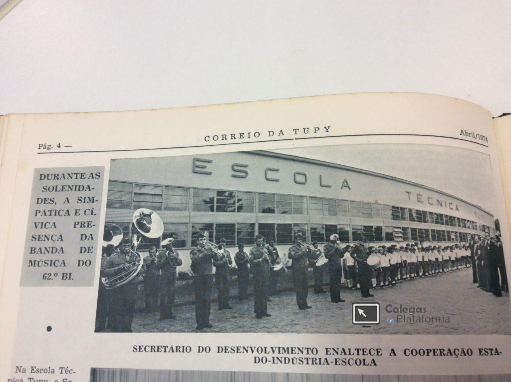 1974 Comemoração na ETT com alunos EPT
