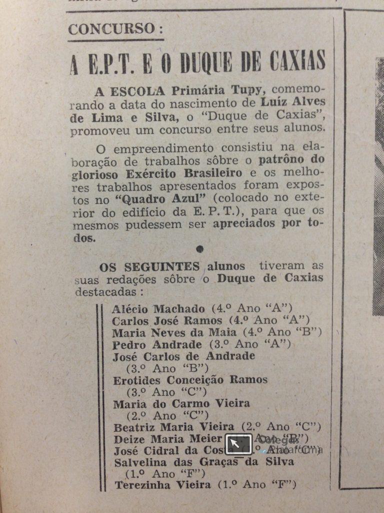 Concurso de redação Duque de Caxias